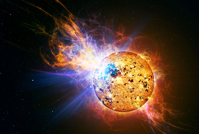 Solar Flare Hits Earth